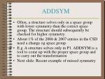 addsym
