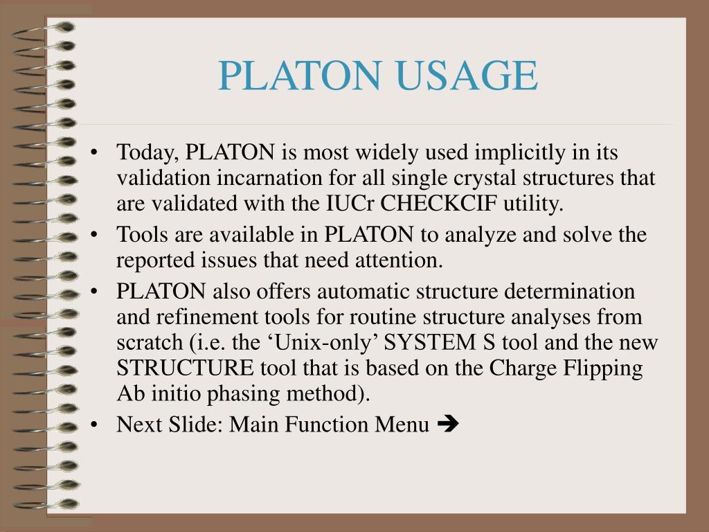 PLATON USAGE
