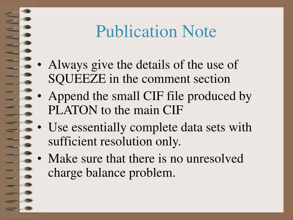 Publication Note