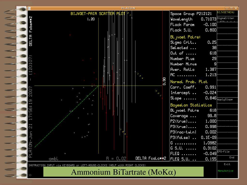 Ammonium BiTartrate (MoK