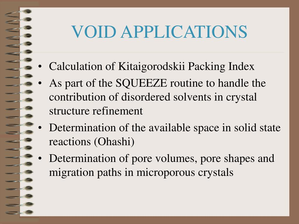 VOID APPLICATIONS