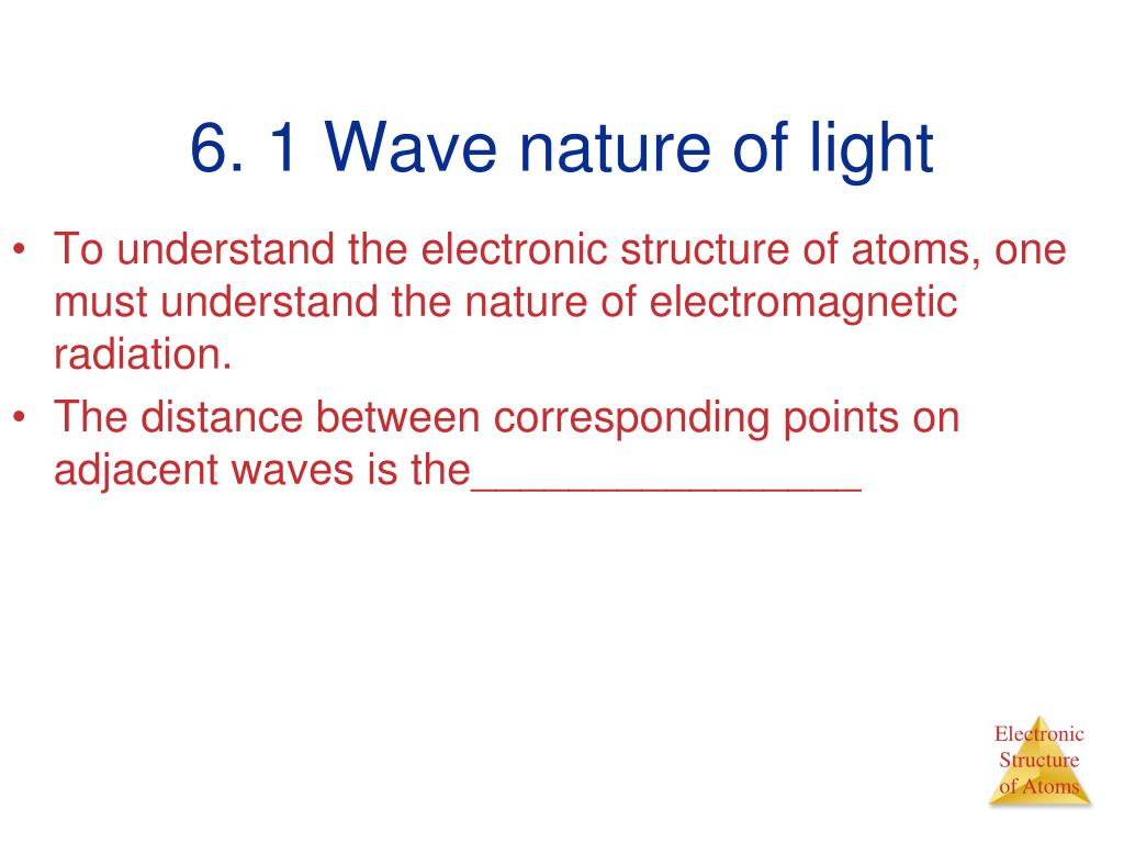 6. 1 Wave nature of light