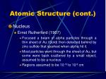 atomic structure cont7