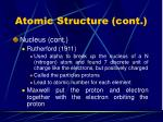 atomic structure cont8