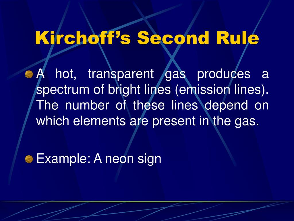 Kirchoff's Second Rule