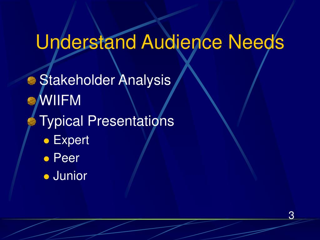 Understand Audience Needs