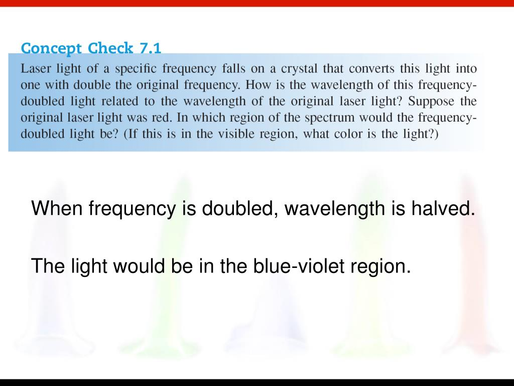 When frequency is doubled, wavelength is halved.