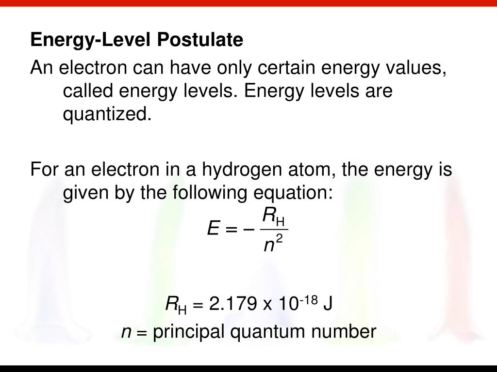Energy-Level Postulate