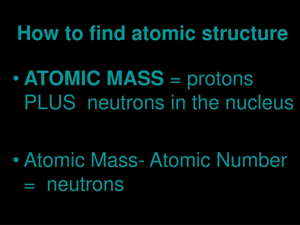 How to find atomic structure