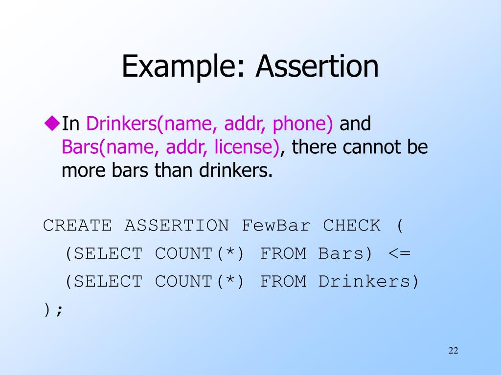 Example: Assertion