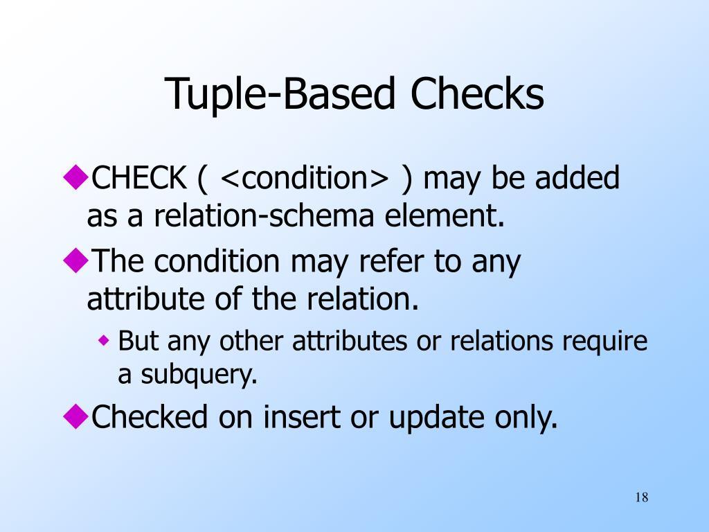 Tuple-Based Checks