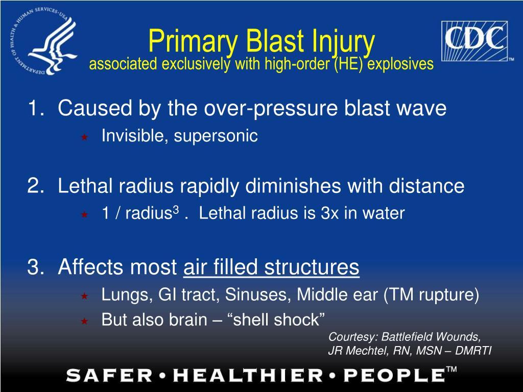 Primary Blast Injury