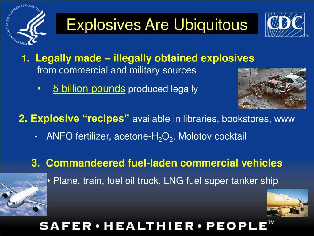 Explosives Are Ubiquitous