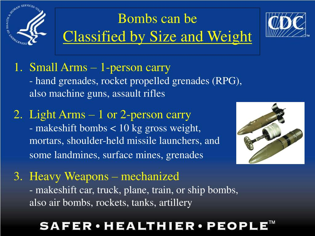 Bombs can be