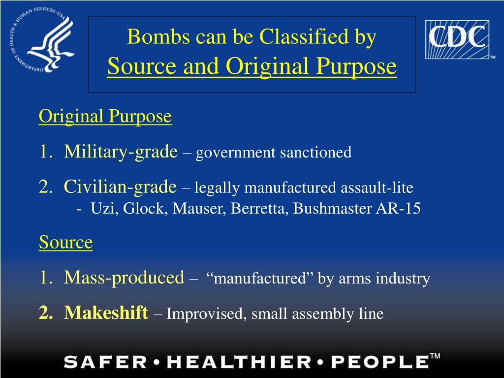 Bombs can be Classified by