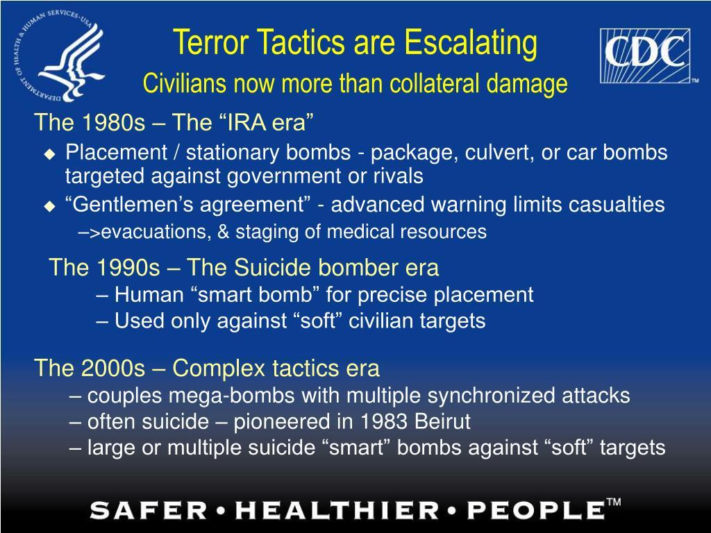 Terror Tactics are Escalating