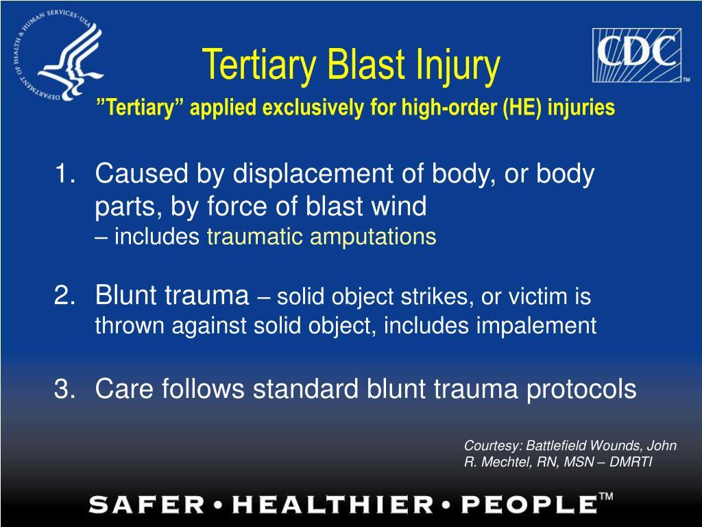 Tertiary Blast Injury