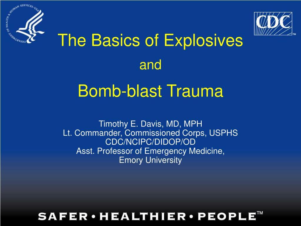 The Basics of Explosives