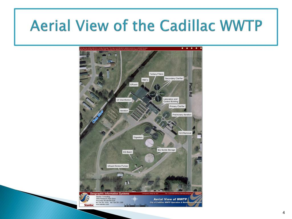 Aerial View of the Cadillac WWTP