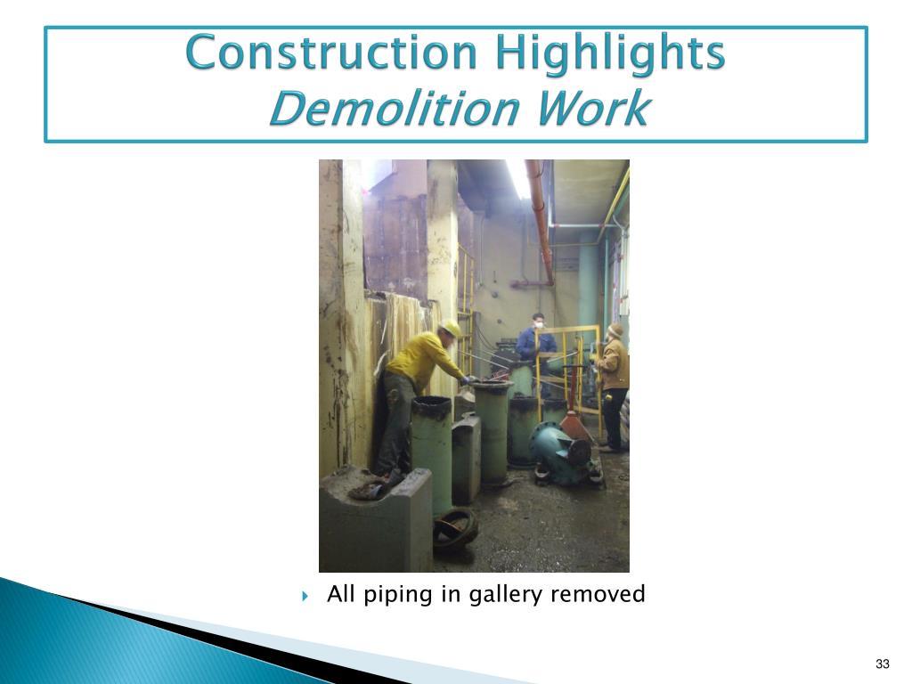 Construction Highlights