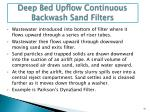 deep bed upflow continuous backwash sand filters