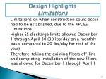 design highlights limitations