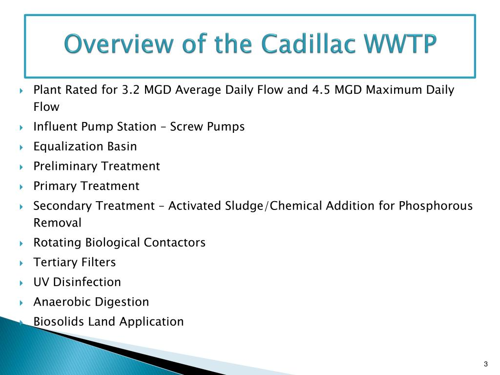Overview of the Cadillac WWTP