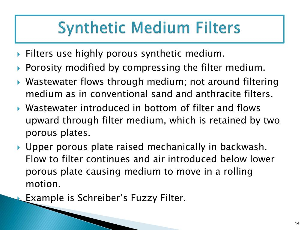 Synthetic Medium Filters