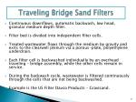 traveling bridge sand filters