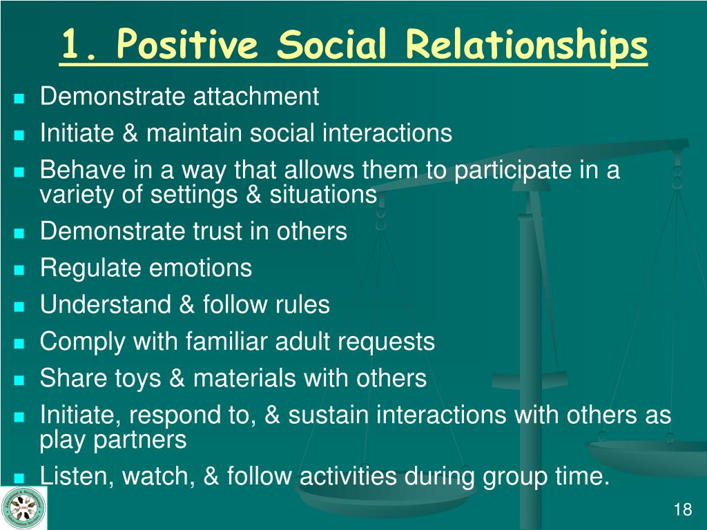 1. Positive Social Relationships