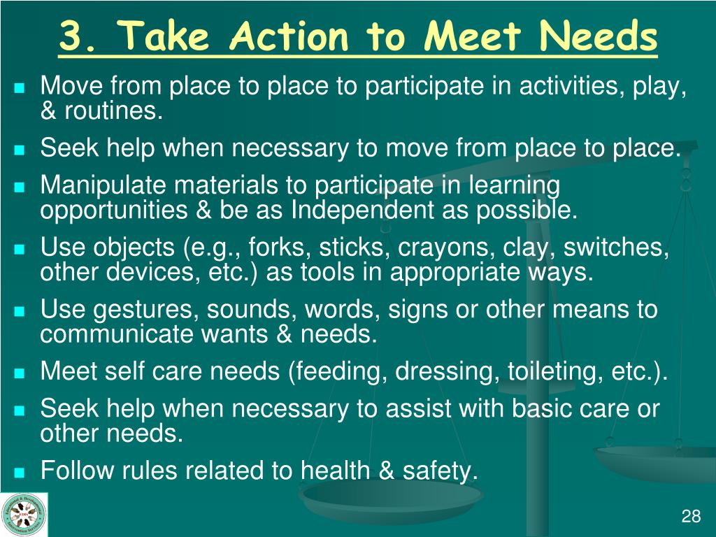 3. Take Action to Meet Needs