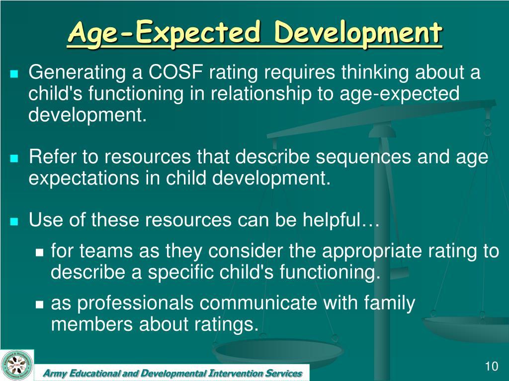 Age-Expected Development
