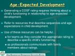 age expected development