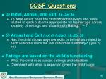 cosf questions