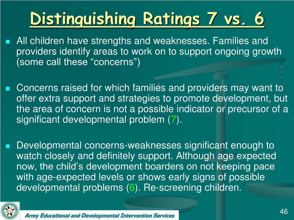 Distinguishing Ratings 7 vs. 6