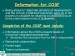information for cosf