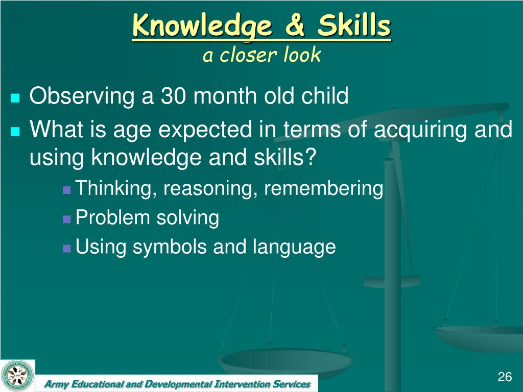 Knowledge & Skills
