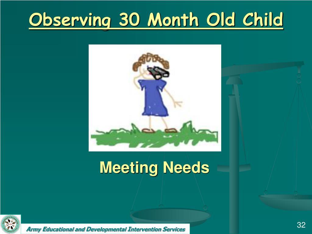 Observing 30 Month Old Child