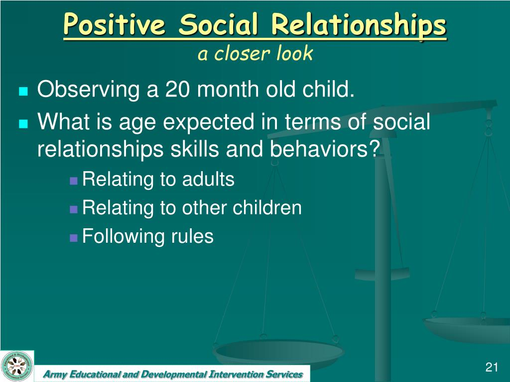 Positive Social Relationships