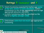 ratings 5 somewhat and 4