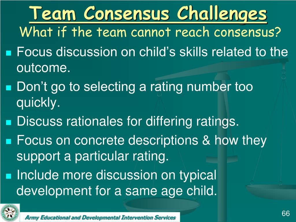 Team Consensus Challenges