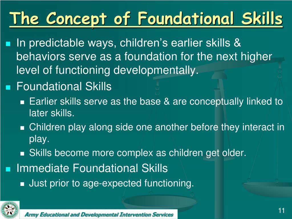 The Concept of Foundational Skills