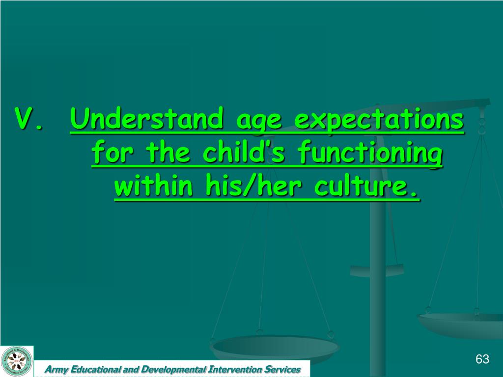 Understand age expectations