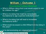 william outcome 156