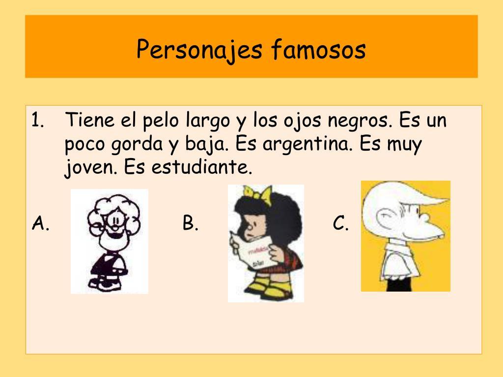 Personajes famosos