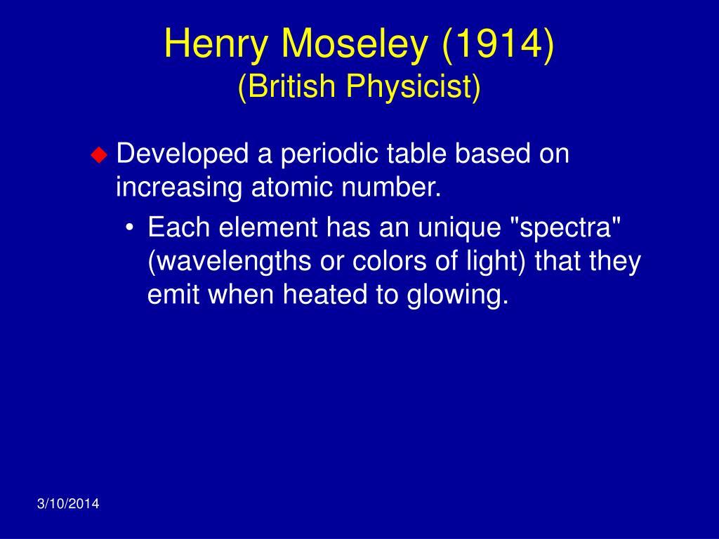 Henry Moseley (1914)