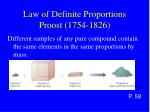 law of definite proportions proost 1754 1826