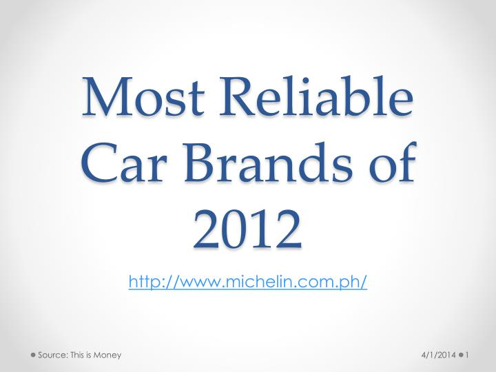 Most r eliable car brands of 2012 l.jpg