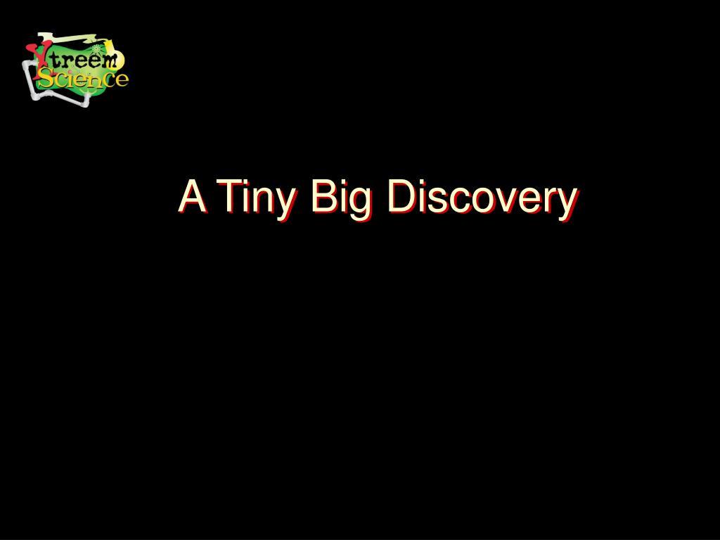 A Tiny Big Discovery