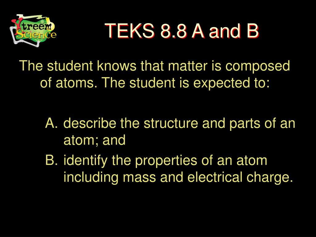 TEKS 8.8 A and B
